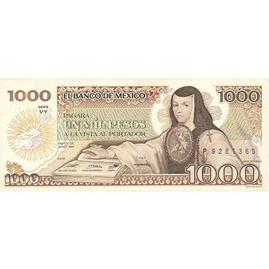 1984 - Mexico P81 1,000 Pesos banknote