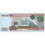 1983 - México P83b billete de 5.000 Pesos