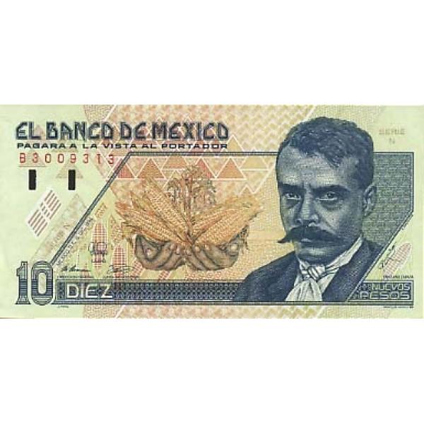 1992 - Mexico P99  10 Nuevos Pesos banknote