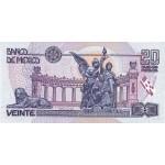 1992 - Mexico P100 20 Nuevos Pesos banknote