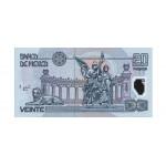 2001 - Mexico P116b 20 Pesos banknote polymer