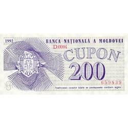 1992 - Moldova  PIC 2        200 Cupon banknote