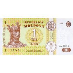 1994 - Moldova  PIC 8        1 Leu banknote