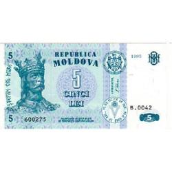 1995 - Moldova PIC 9 b           5 Lei banknote