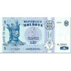 1999 - Moldova PIC 9 c            5 Lei banknote