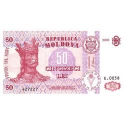 2002 - Moldova PIC14 b           50 Lei banknote