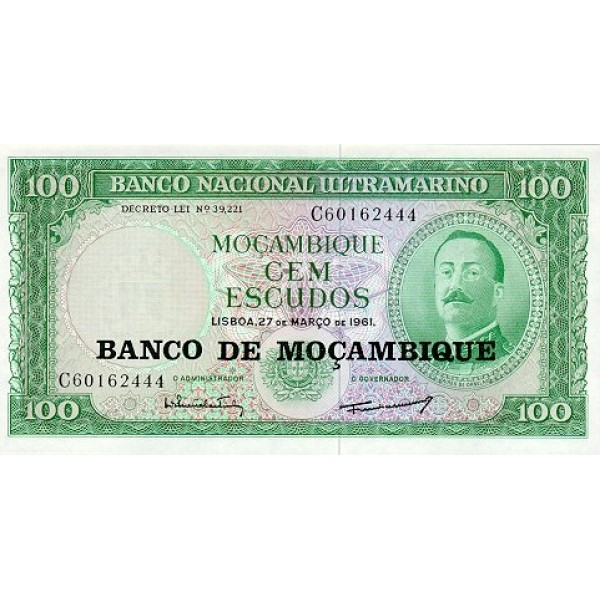 1976 - Mozambique pic 117 billete de 100 Escudos