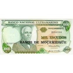 1976 - Mozambique PIC 119  1000 Escudos banknote