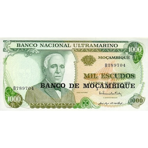 1976 - Mozambique pic 119 billete de 1000 Escudos