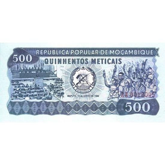 1980 - Mozambique PIC 127  500 Escudos banknote