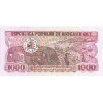 1980 - Mozambique PIC 128  1000 Meticais banknote