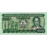 1983 - Mozambique PIC 130a 100 Meticai banknote