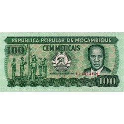 1983 - Mozambique PIC 130a 100 Meticai banknote