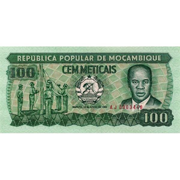 1983 - Mozambique pic 130a billete de 100 Meticais