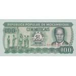 1989 - Mozambique pic 130c billete de 100 Meticais
