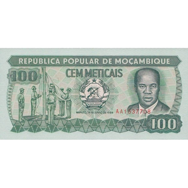 1989 - Mozambique PIC 130c 100 Meticais banknote