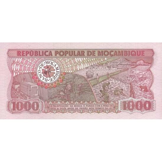 1983 - Mozambique PIC 132a 1000 Meticai banknote