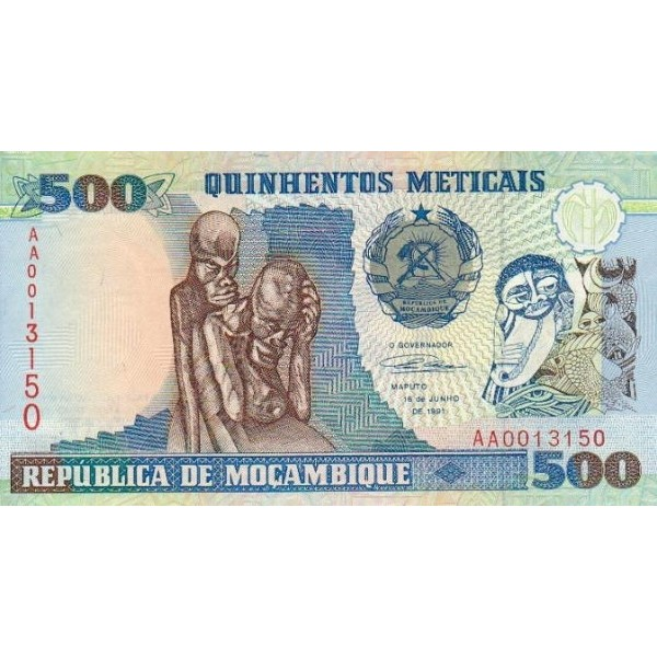 1991- Mozambique PIC 134  500 Escudos banknote