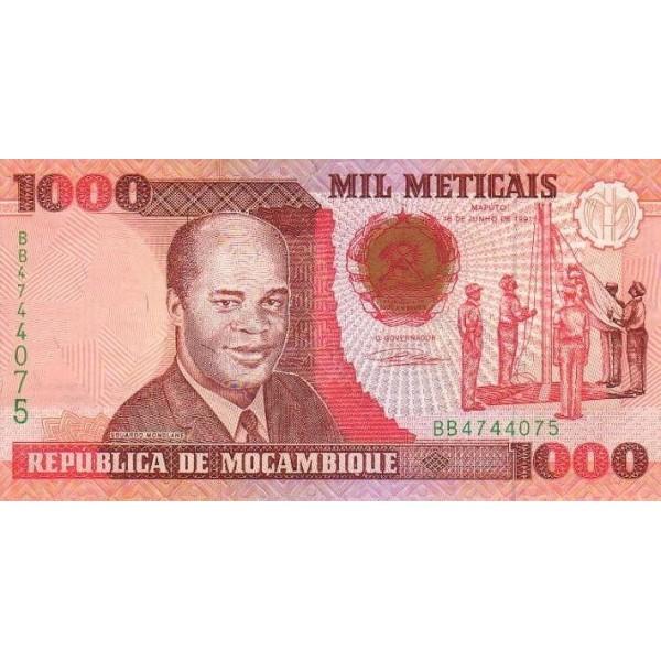 1991 - Mozambique pic 135 billete de 1000 Meticais