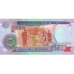 1991- Mozambique PIC 136  5000 Escudos banknote