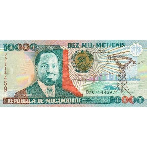 1991- Mozambique PIC 137  10000 Escudos banknote