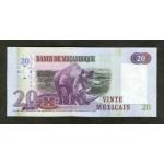 2006 - Mozambique PIC 143 20 Escudos banknote