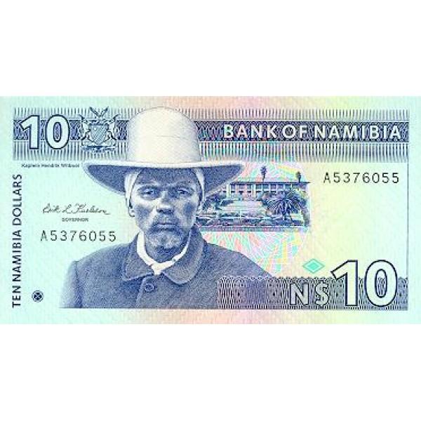 1993 - Namibia  PIC 1   10 Dollars  Banknote
