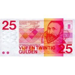 1971 -  Netherlands   Pic 92a        25 Gulden  banknote