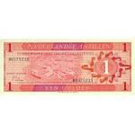 1970 - Antillas Holandesas P20a billete de 1 Gulden