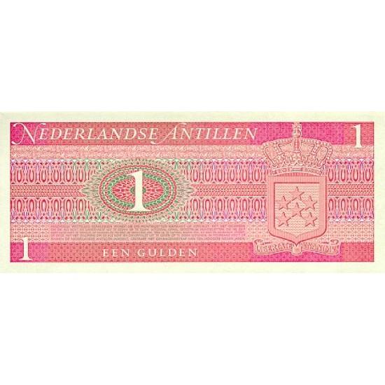 1970 - Netherlands Antilles P20a 1 Gulden banknote