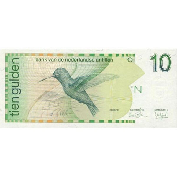 1994 - Antillas Holandesas  P23c billete de 10 Gulden
