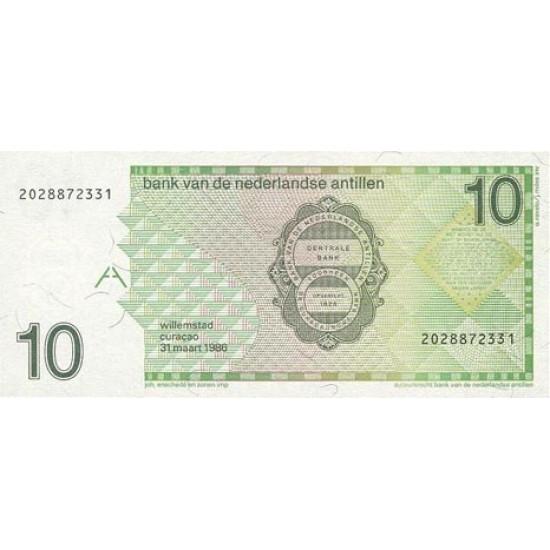 1994 - Netherlands Antilles P23c 10 Gulden banknote