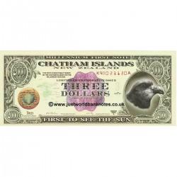 1999 - Chatman  (New Zealand)  3 Dollars banknote
