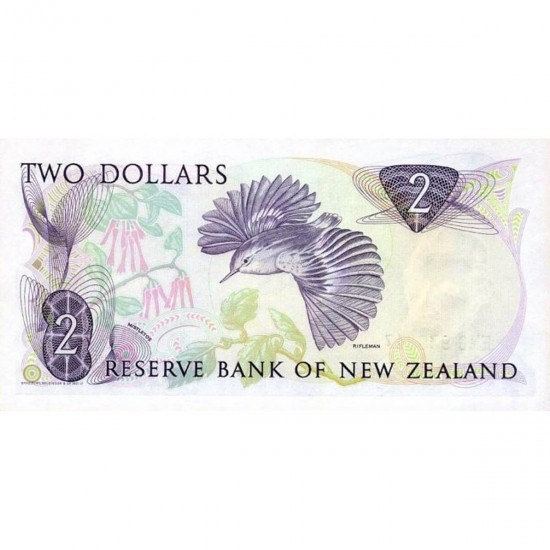 1985/89 - New Zealand P170b 2 Dollars banknote
