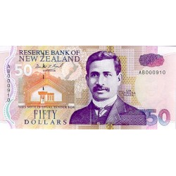 1992 - New Zealand P180a 50 Dollars banknote
