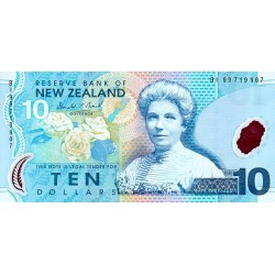 2002 - New Zealand  P186a 10 Dollars banknote