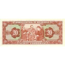 1972 - Nicaragua P124 20 Cordobas banknote
