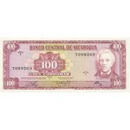 1972 - Nicaragua P126 100 Cordobas banknote