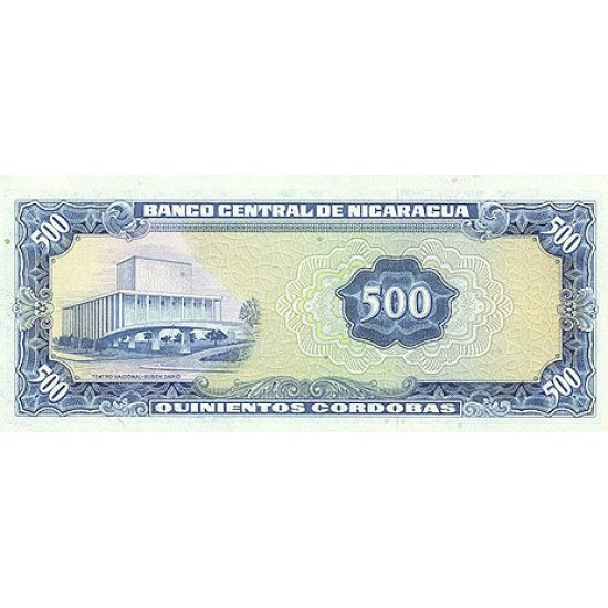 1979 - Nicaragua P133 500 Cordobas banknote