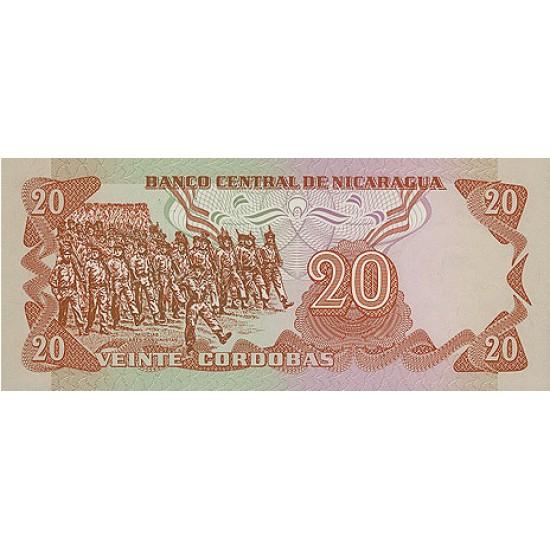 1979 - Nicaragua P135 20 Cordobas banknote