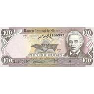 1979 - Nicaragua P137 100 Cordobas banknote