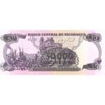 1987 - Nicaragua P148    billete de 50.000 en 50 Córdobas
