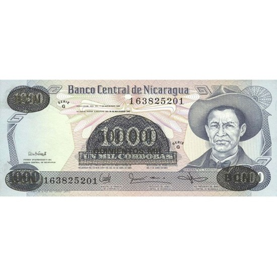 1987 - Nicaragua P150 500,000 / 1,000 Cordobas banknote