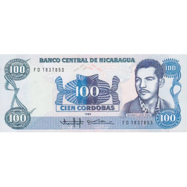 1985 - Nicaragua P154 billete de 100 Córdobas