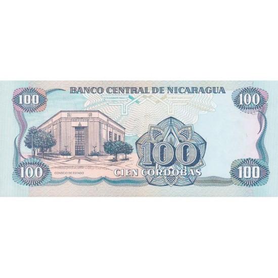 1985 - Nicaragua P154 100 Cordobas banknote