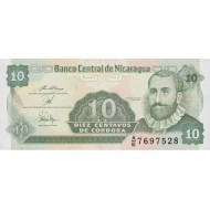 1991 - Nicaragua P169a 10 Centavos de Cordoba banknote