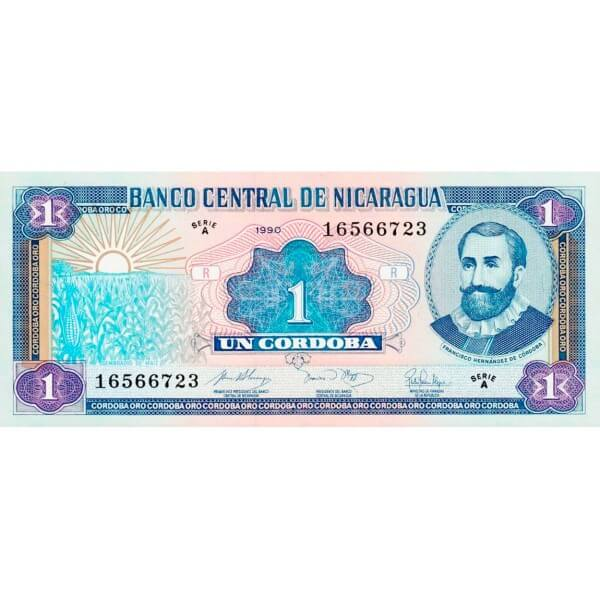 1990 - Nicaragua P173 billete de 1 Córdoba