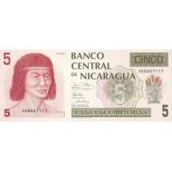 1991 - Nicaragua P174 5 Cordobas banknote