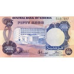 1973/78  - Nigeria PIC 14g       50 Kobo banknote