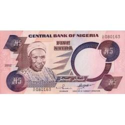 2001 - Nigeria PIC 24g       5 Nairas banknote